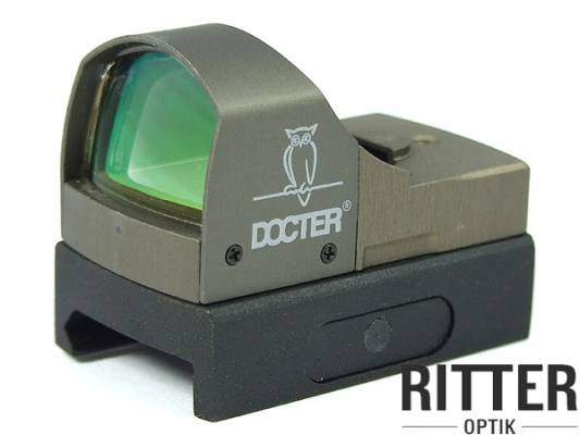 Reflexvisier DOCTER sight II Plus 7,0 MOA bronze Edition inkl. Weaver / Picatinnymontage