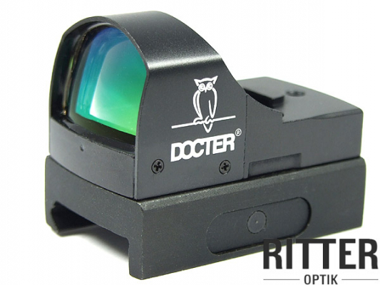 Reflexvisier DOCTER sight II Plus 7,0 MOA schwarz inkl. Weaver / Picatinnymontage