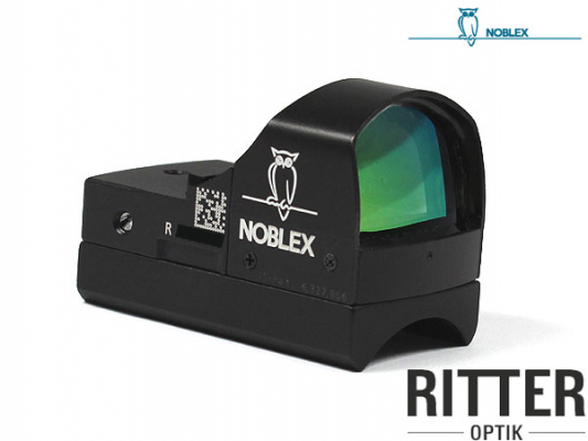 Reflexvisier NOBLEX DOCTER sight II Plus 3,5 MOA schwarz inkl. Weaver / Picatinnymontage