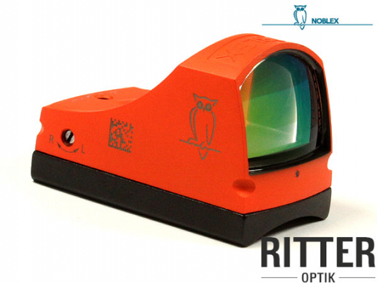 Reflexvisier NOBLEX sight C 3,5 MOA Cerakote orange inkl. Weaver / Picatinnymontage