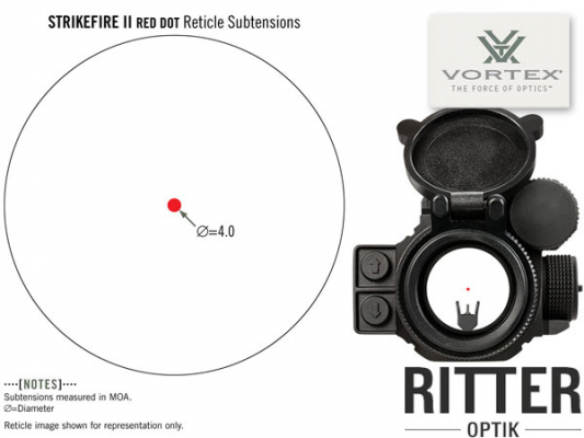 Red Dot VORTEX Strikefire II 4 MOA