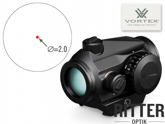 Reflexvisier VORTEX CROSSFIRE 2 M.O.A. mit Multi-Height und Low Mount System