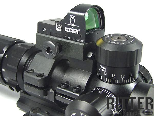 Leuchtpunktvisier auf zielfernrohr montieren montage docter sight