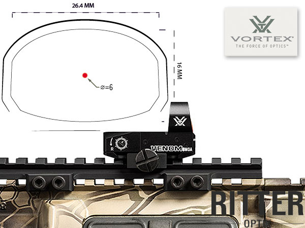 Red Dot VORTEX Venom 6 MOA